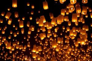 небесные фонарики на свадьбу