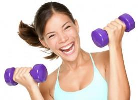 фитнес с гантелями для женщин