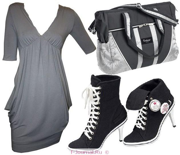 С чем носить кеды на каблуках