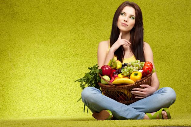 правильные привычки питания - овощи, фрукты