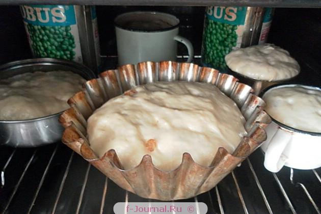 Кулич с изюмом, орехами и цукатами - приготовление опары