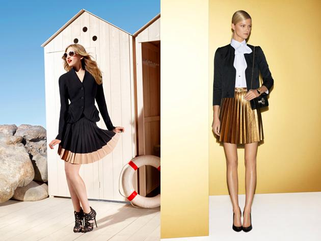 С чем носить плиссированную юбку мини