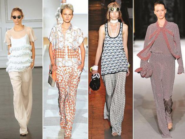 Одежда в пижамном стиле