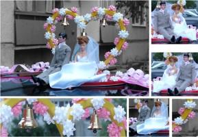 украшения для свадебного автомобиля