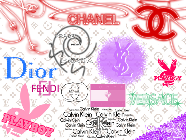 Логотипы модных брендов одежды