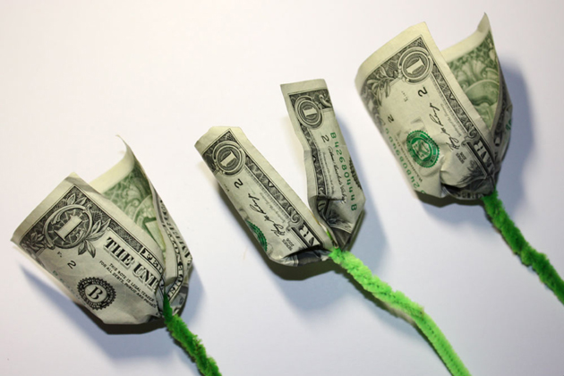 роза из денег своими руками