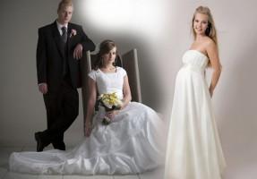 """Свадьба на троих или если невеста """"в положении"""""""