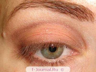 Макияж глаз в коричнево-терракотовых тонах
