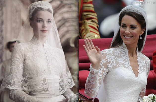 свадебные платья знаменитостей
