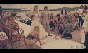 """Красочная свадебная церемония """"как в кино"""""""