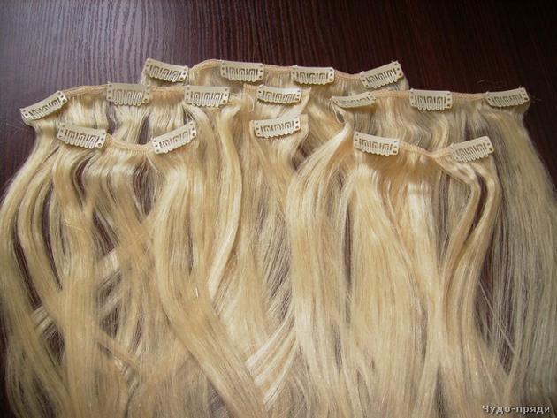 накладные волосы на заколках