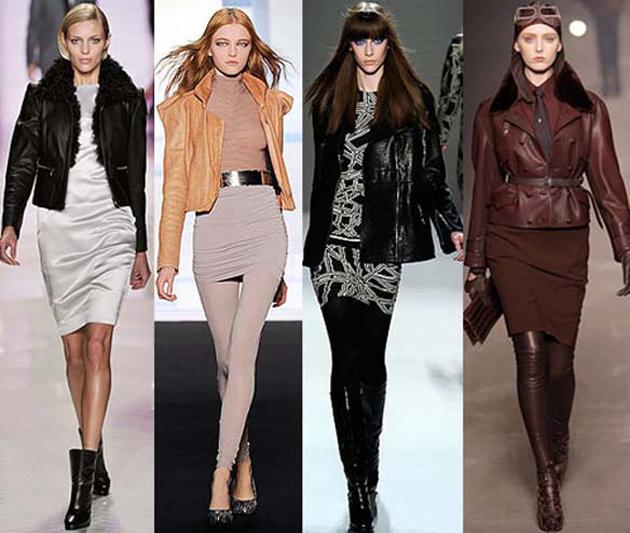 Куртки кожаные осень 2011