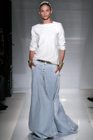 Модная юбка-макси лето 2012 - ткани и фактура