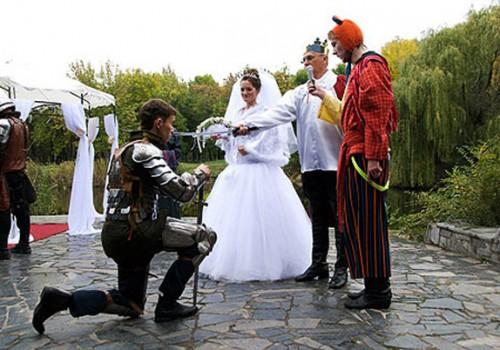 Рыцарская свадьба фото