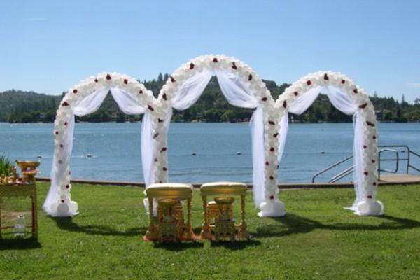 свадебные арки из воздушных шаров