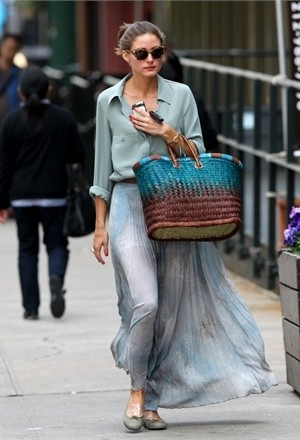 С чем носить плиссированную юбку макси (фото)