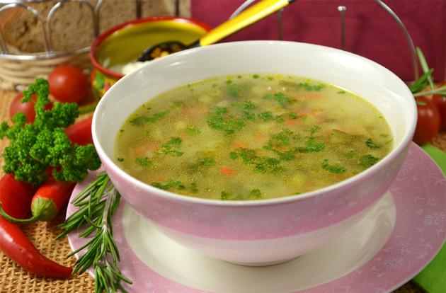 рецепт летнего супа на мясном бульоне