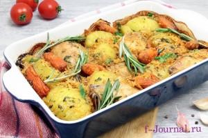 Курица запеченная в духовке с картошкой