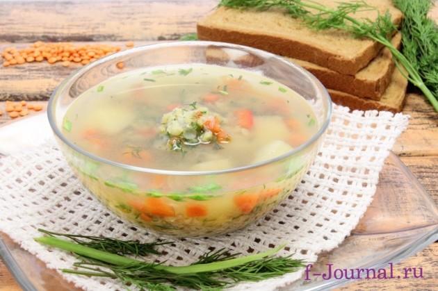 суп из чечевицы диетический рецепт с фото пошагово в