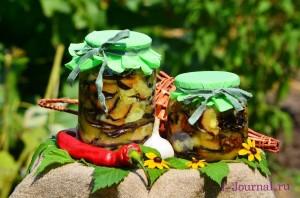 Консервированные баклажаны со сладким перцем