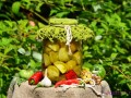 Острые зеленые маринованные помидоры