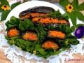 Баклажаны, фаршированные чесноком и морковью