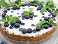 Творожно-желейный пирог с голубикой