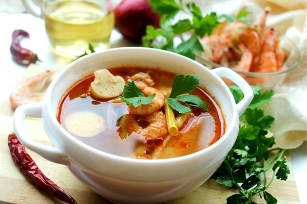"Тайский суп ""Том ям кунг"""