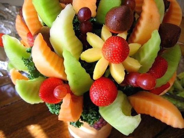 букет из фруктов своими руками на 8 марта